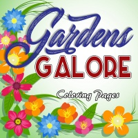 Gardens Galore Coloring Pages