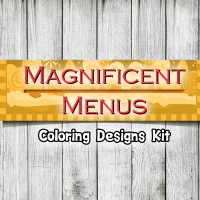 Magnificent Menus Coloring Kit