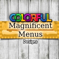 Colorful Magnificent Menus Design Kit