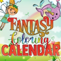 Fantasy Coloring Calendar Journal Pages