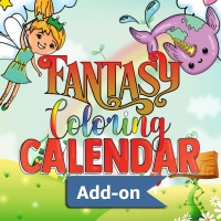 Fantasy Coloring Calendar ADD-ON Pages