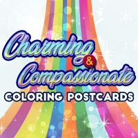 Charming & Compassionate Coloring Postcards