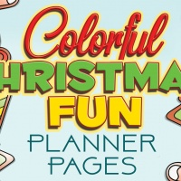 Colorful Christmas Fun Planner Pages