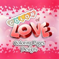 Color of Love Coloring Page Designs