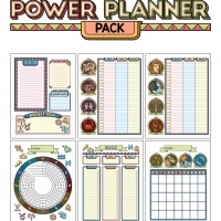 Colorful Power Planner Pack - Zodiac