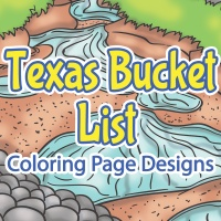 Texas Bucket List Coloring Pages