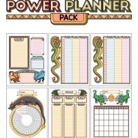 Colorful Power Planner Pack - Dragons
