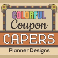 Colorful Coupon Capers Coloring Planner Designs