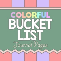 Colorful Bucket List Planner Pages