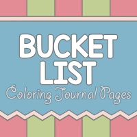 Bucket List Coloring Journal Pages
