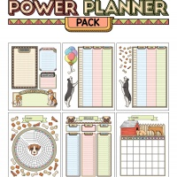 Colorful Power Planner Pack - Dogs