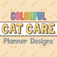 Colorful Cat Care Planner Designs