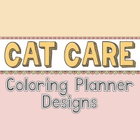 Cat Care Coloring Planner Designs