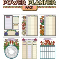 Colorful Power Planner Pack - Tropical Flowers