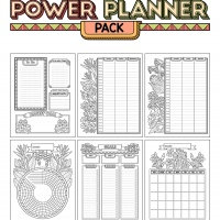 Power Planner Pack - Tropical Flowers