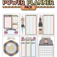 Colorful Power Planner Pack - Yoga