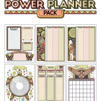 Colorful Power Planner Pack - Spirit Animals