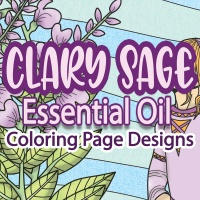 Clary Sage Essential Oil Coloring Pages