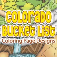 Colorado Bucket List Coloring Page Designs