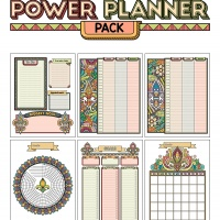 Colorful Power Planner Pack - Fleur De Lis