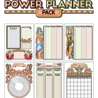 Colorful Power Planner Pack - Fairies