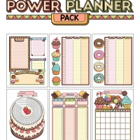 Colorful Power Planner Pack -Sweets
