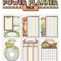 Colorful Power Planner Pack - Dinos