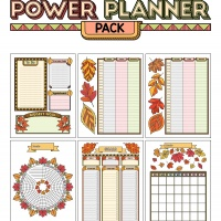 Colorful Power Planner Pack - Fall Leaves