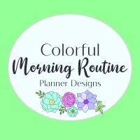 Colorful Morning Routine Coloring Planner Designs