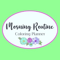 Morning Routine Coloring Planner Designs