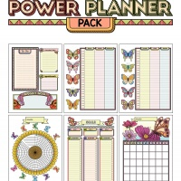 Colorful Power Planner Pack - Butterflies