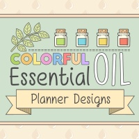 Colorful Essential Oil Planner Designs