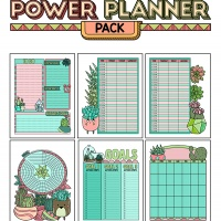 Colorful Power Planner Pack - Succulents