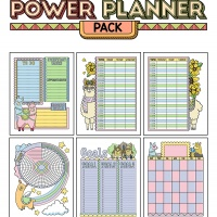 Colorful Power Planner Pack - Drama Llamas