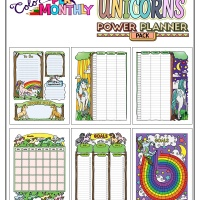 Colorful Power Planner Pack - Unicorns