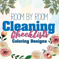 Room By Room Cleaning Checklists Coloring Planner Designs