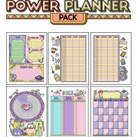 Colorful Power Planner Pack - Tea Time