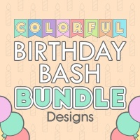 Colorful Birthday Bash Bundle Coloring Birthday Decor