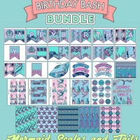 Colorful Birthday Bash Bundle - Mermaid Scales & Tails