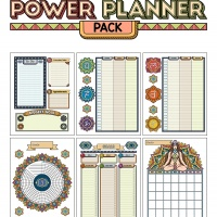 Colorful Power Planner Pack - Chakras