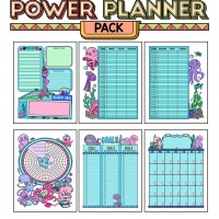 Colorful Power Planner Pack - Octopus