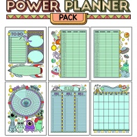 Colorful Power Planner Pack - Aliens