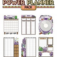 Colorful Power Planner Pack - Lavender Apothecary
