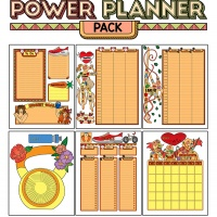 Colorful Power Planner Pack - Healthy Body
