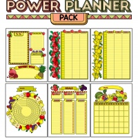 Colorful Power Planner Pack - Fruit