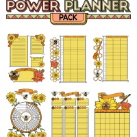 Colorful Power Planner Pack - Queen Bee
