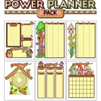 Colorful Power Planner Pack - Birdhouses