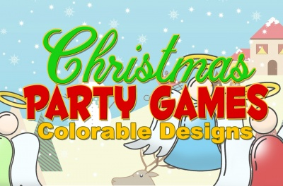 Christmas Party Games Coloring Designs