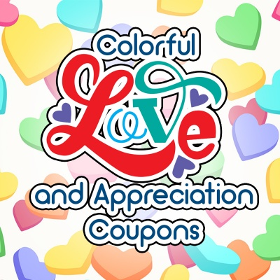 Colorful Love & Appreciation Coupons